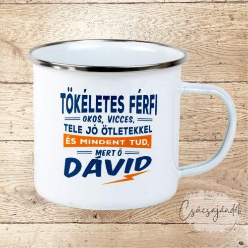 Neves fémbögre - Dávid