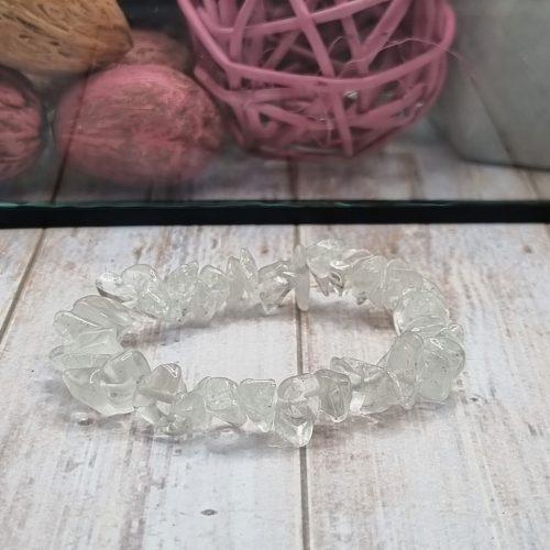 Hegyikristály törmelékköves karkötő